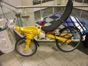 Verpacktes Fahrrad
