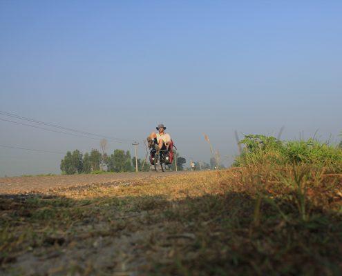 mit dem Liegerad durch das westliches Terai - Nepal