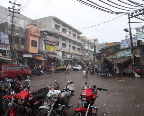 Agra bei regen