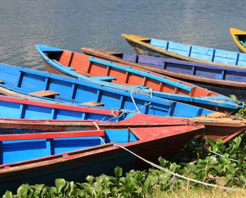 Der Phewa-See in Pokhara