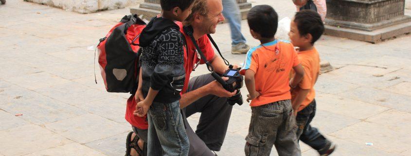 Straßenkinder in Kathmandu