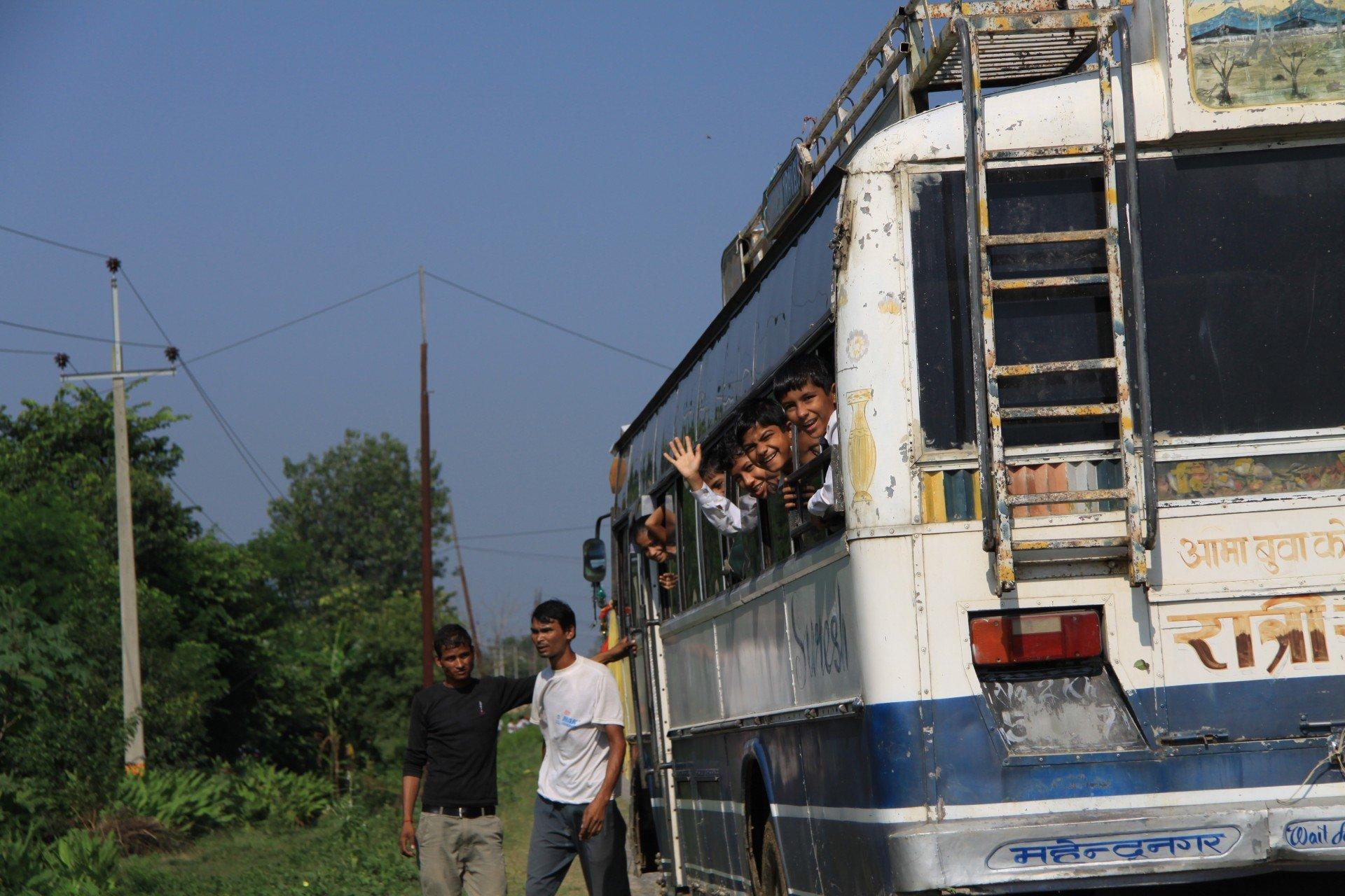 Freundliche Nepalesen