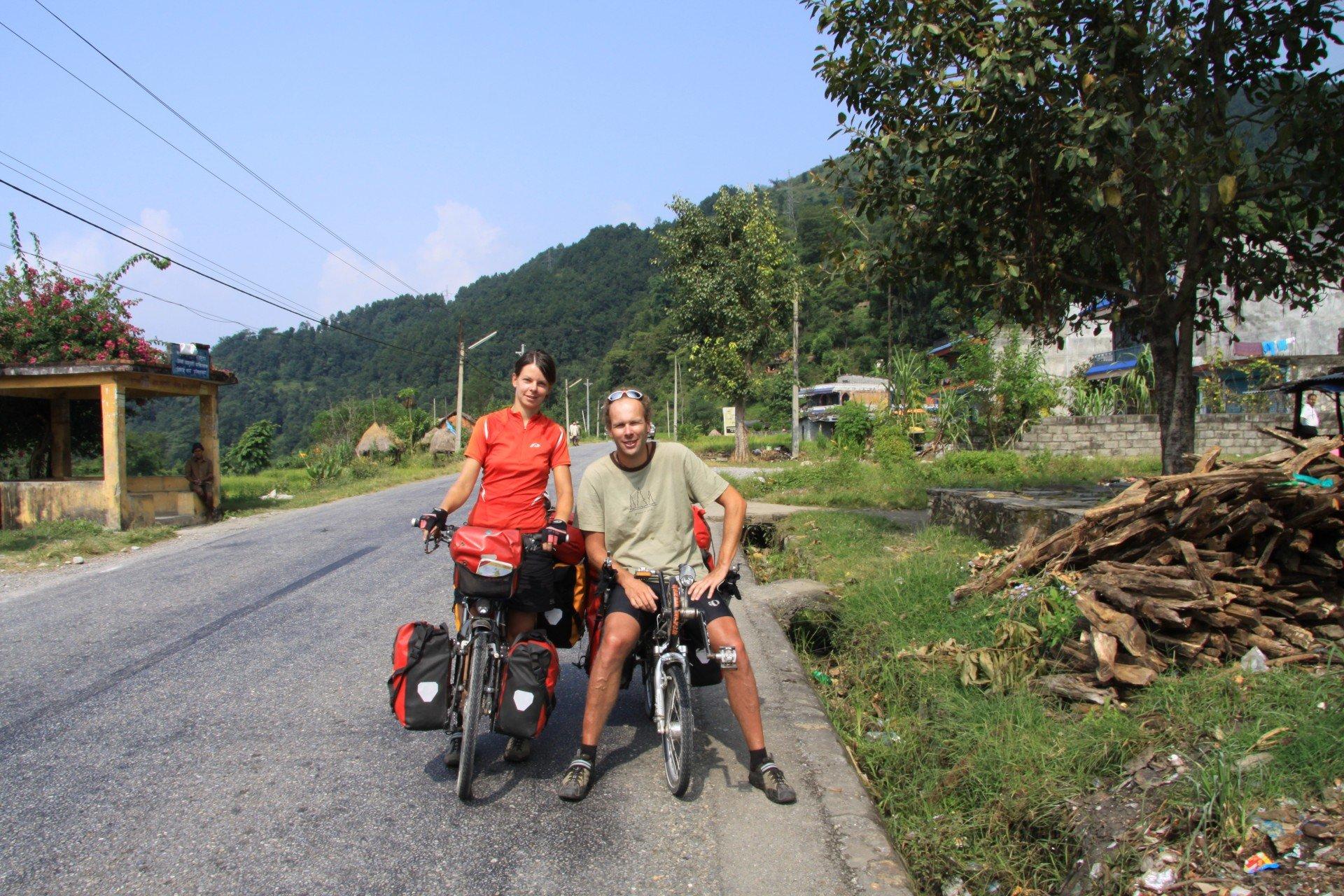 auf dem Siddhartha Highway in Nepal