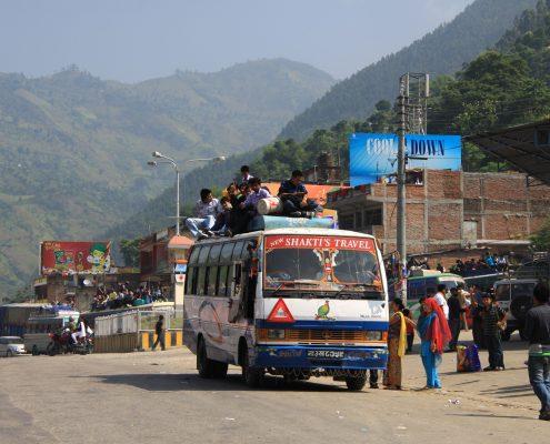 manchmal ist es unglaublich was mit den Bussen alles transportiert werden kann.