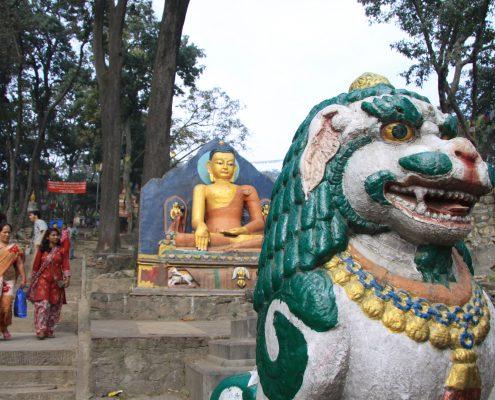 Aufgang zur Swayambhu Stupa in Kathmandu