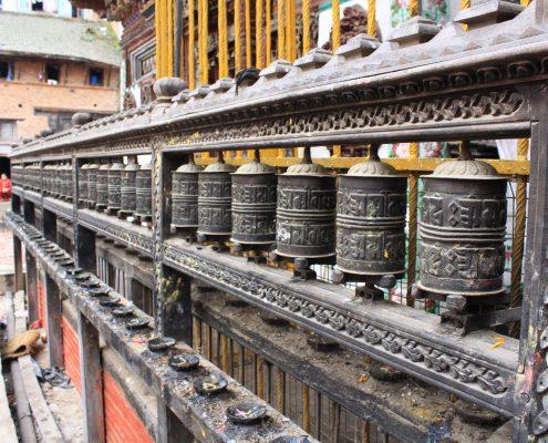 Gebetsrollen in Kathmandu