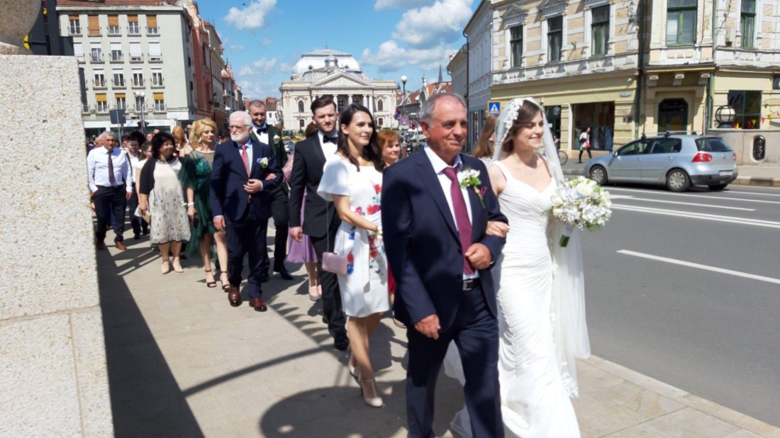 Hochzeitszug in Oradea