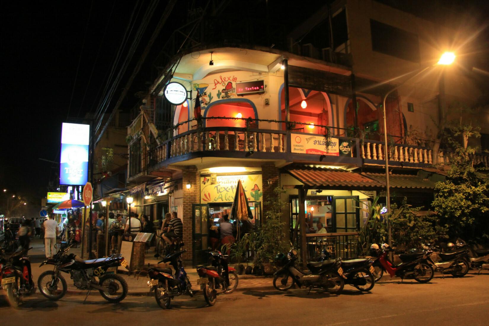 Nachtleben in Vientiane