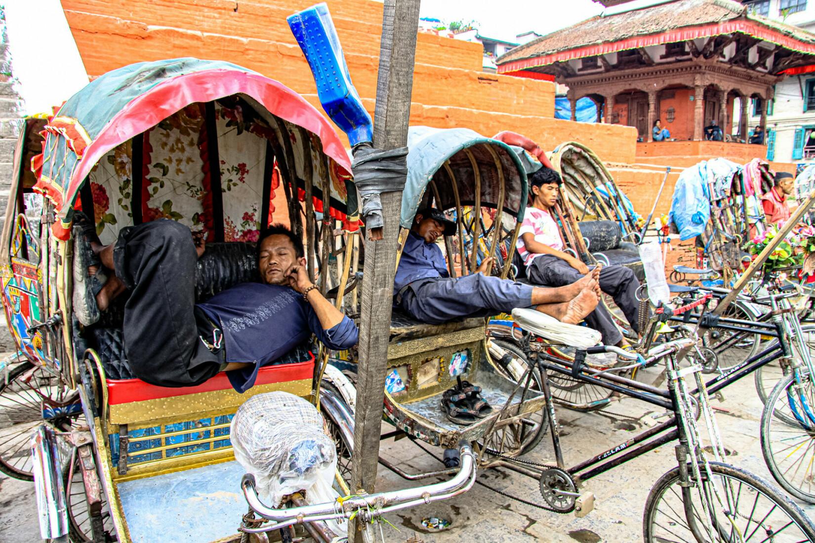 Durbar Square Rikschafahrer