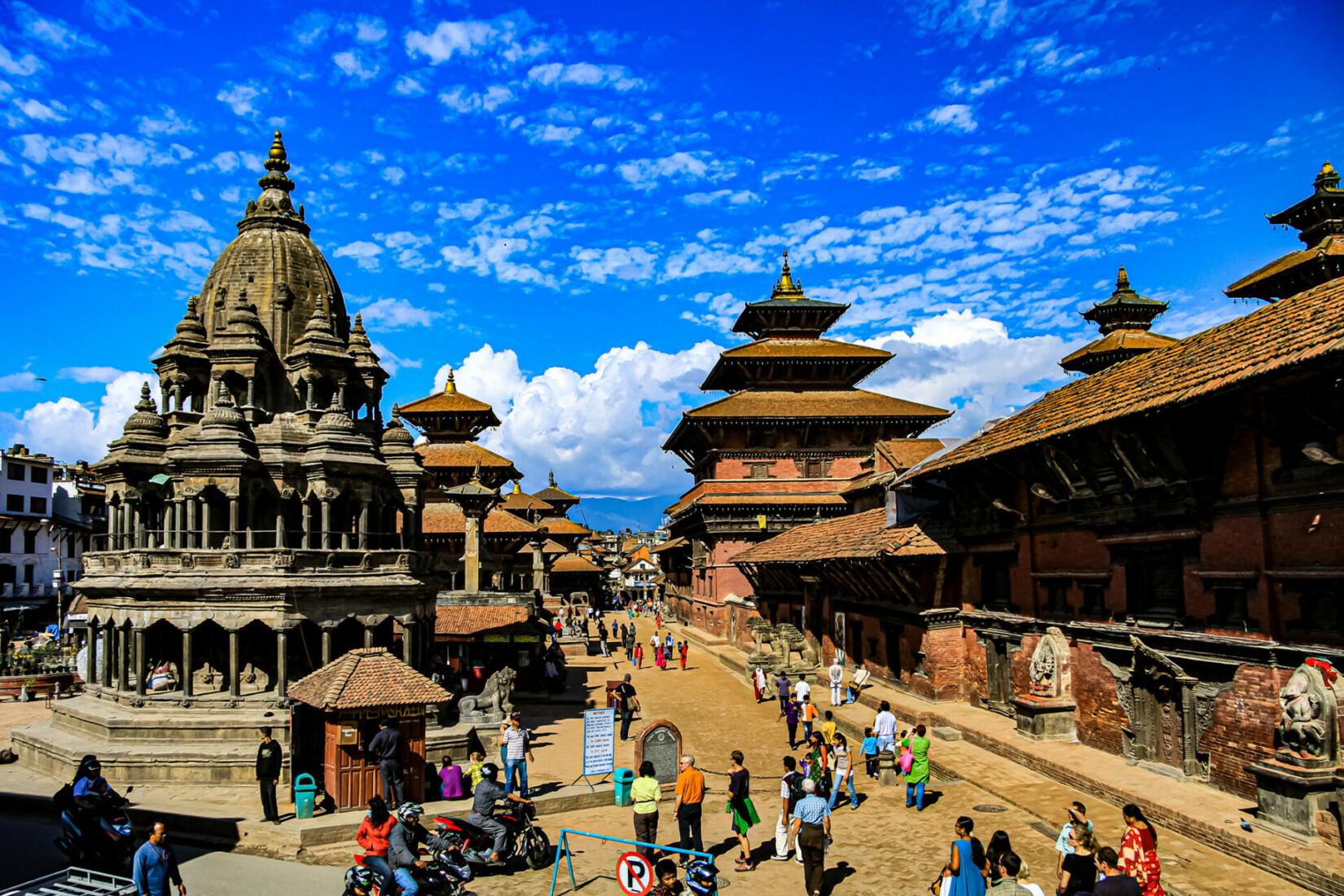 Patan Durbar Square Panorama