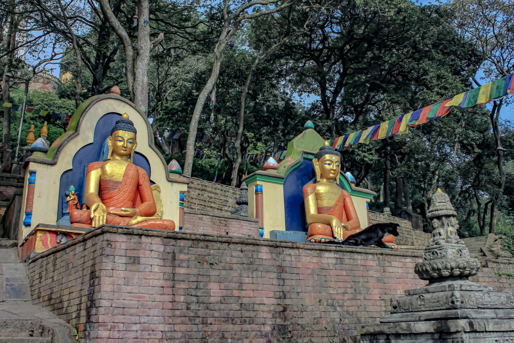 Swayambunath Buddha two