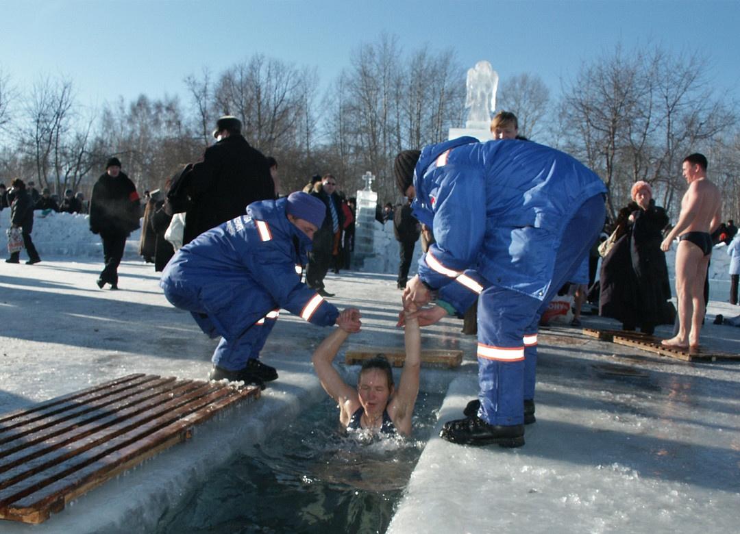 sibirische Taufe